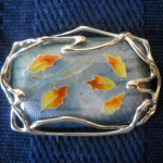 KRavitz Brooch-Pendant-Two-Fish-in-an-Autumn-Pond1